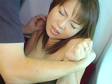 Japanese big tit bombshell Rei continues to give a blowjob to a total stranger